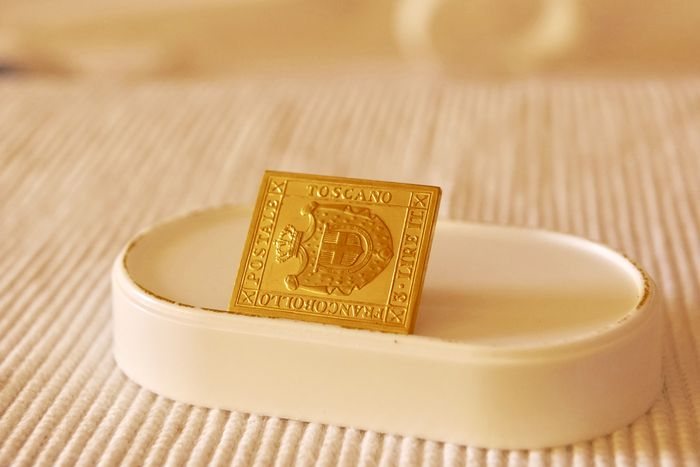 Stamp in yellow gold 22 kt