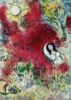 Marc Chagall (after) - (1887-1985) - Chloe