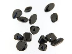 lot of 14 Black diamonds in  of 21.37 ct  - LOW reserve !
