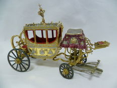 Silver royal carriage, handcrafted, Spain, early 20th century