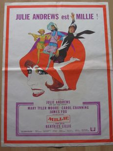 Millie - French official cinema banner/poster - 1967 - Julie Andrews and James Fox