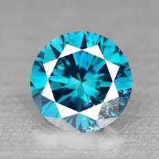 FIERY 0.12 Cts TITANIC BEST BLUE COLOR NATURAL LOOSE DIAMOND