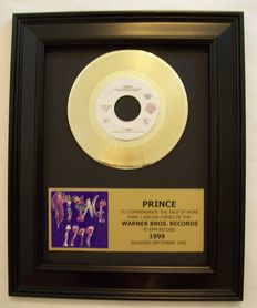 Prince - 1999 single  24k Gold plated, Golden record