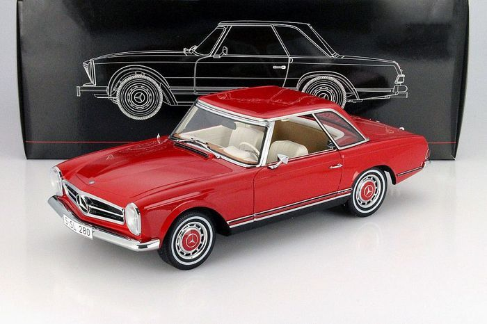 Premium ClassiXXs - Scale 1/12 - Mercedes-Benz 280 SL Pagode (W113) Hard top 1968 - Red