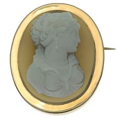 Romantic French Victorian hard stone cameo gold brooch and pendant - anno 1870 - **reduced price**