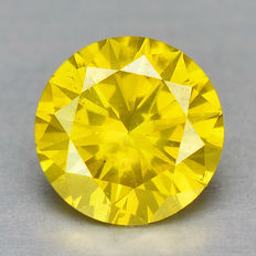 0.18 Cts CANARY YELLOW NATURAL LOOSE DIAMOND