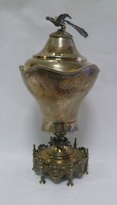 Devotional vase in silver, handcrafted, Greece 19th Century