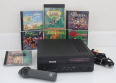 CDi 470 complete with controller and 5 games, including Link: The Faces of Evil