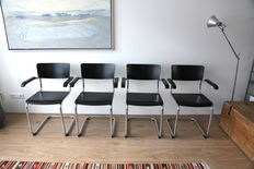 Mart Stam for Thonet – 4 chairs type S43F