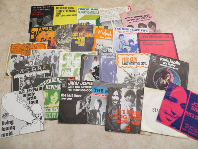 "Various Artists - nice lot of 26   7""  SINGLES pop, beat, rock from the sixties in photo sleeves"