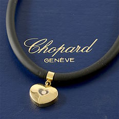 Chopard - Happy Diamonds 18K Yellow Gold Heart Pendant & Cord Necklace