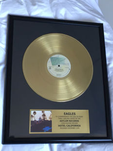 The Eagles  - Hotel California  - 24k gold Golden Record LP with