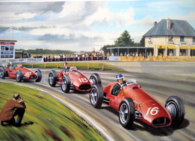 art lithograph grand prix de reims 1953 hawthorn fangio ascari ferrari catawiki. Black Bedroom Furniture Sets. Home Design Ideas