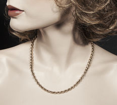 8k yellow gold cord necklace / chain -