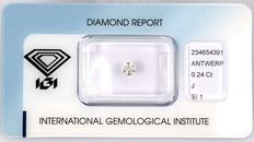 0.24 ct  IGI Round brilliant diamond J  SI1