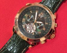 CALVANEO 1583 ASTONIA LUXURY BRITANNIC GOLD – MEN'S CHRONOGRAPH WRISTWATCH – 2016.