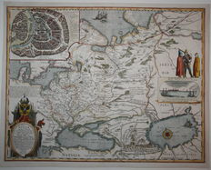 Russia, Moscow; Willem Blaeu - Tabula Russiae (..) - 1635