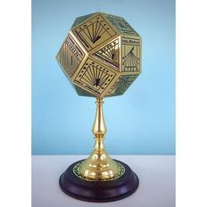 Franklin Min - Polyhedral Sundial after a 15th century model, 24 karat gold plated
