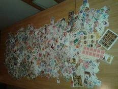World stamps – Lot with approx. 20,000 stamps