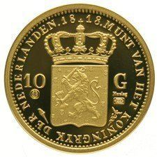 The Netherlands – Re-strike 10 guilder coin 1818 – Willem I – gold