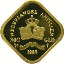 Netherlands Antilles – 300 guilder 1980 Juliana, gold