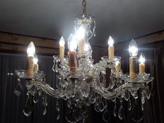 Marie-Therese glass chandelier - Belgium - 1950s