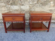 Living room end tables with Drawer And Shelf - China - second half 20th century