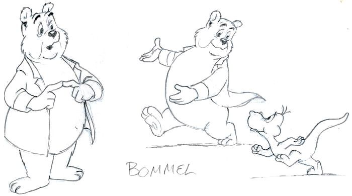 "Marten Toonder Studio's - Original pencil drawings - Sir Bumble with Zwelgje - made for the film ""Als je begrijpt wat ik bedoel"" - (1981)"