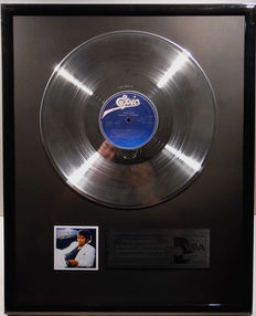"""Michael Jackson - Thriller - 12"""" German Epic Record platinum plated record by WWA Awards"""