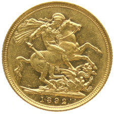 Australia – Sovereign 1892 (Melbourne) Victoria – gold