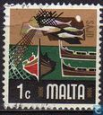 Timbres-poste - Malte - Pêches