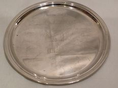 Collectible commemorative silver plate Lever Italy (Casalpusterlengo-Puzzilli) Italy 20th century