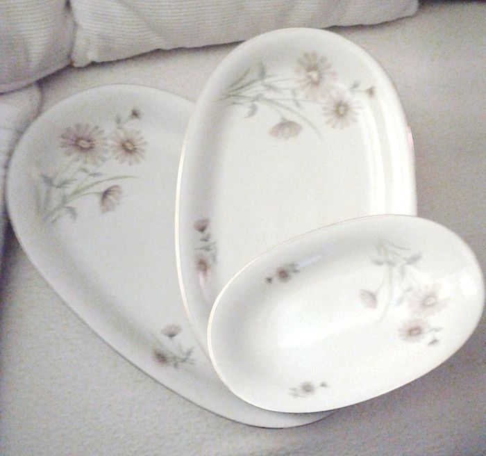 Plate Set With 12 Dining Plates Made Of Fine Bavaria Porcelain   56 Pieces