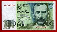 Spain - 1,000 Pesetas 1979 - Series 9E Replacement - Considered very rare - Pick 158