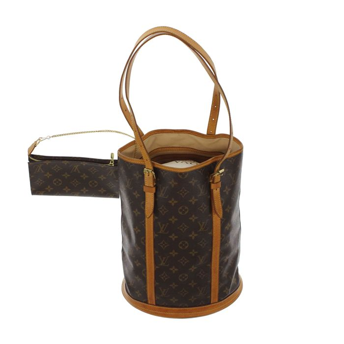 louis vuitton monogram bucket gm schultertasche mit kleiner handtasche catawiki. Black Bedroom Furniture Sets. Home Design Ideas