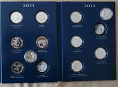 Germany - €10 commemorative coins 2011-2012 (11 coins) - silver