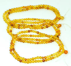 3 Natural amber rosarys (necklaces) honey color amber