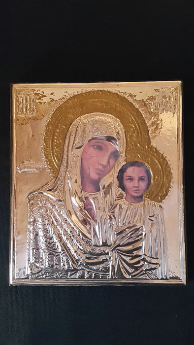 Silver Plated Religious Icon