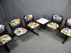 """Ambasz & Piretti for Open Ark by Vitra – Unique two-piece """"Comics"""" waiting room seats"""
