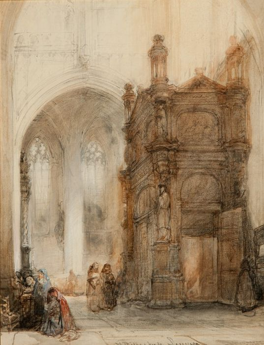 Johannes bosboom 1817 1891 interieur st pieterskerk for Interieur leuven