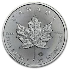 1 oz Silver 999.9 Coin from Canada - Maple Leaf from 2016