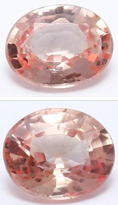 2 Padparadscha Sapphires - 0.41 ct total