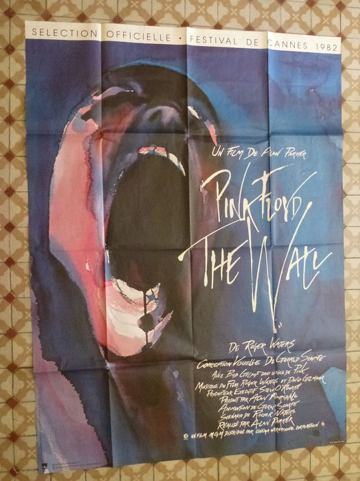 Originale affiche de film Pink Floyd The Wall 117 cm x 157 CM .
