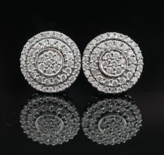 14kt gold diamond earrings 0.60ct - 10.7 x 10.7 x 15.6mm