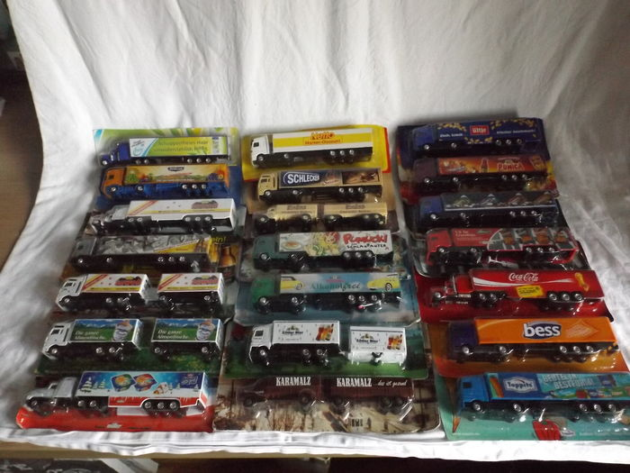 Various -scale 1/87- lot with 54 models: 54 x trucks - Catawiki