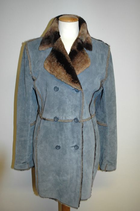 united kingdom online shop 50% off Marvin Richards – Leather Coat fully lined with fake fur ...