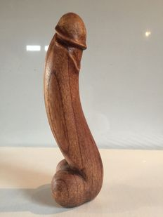 Sculpture; African Fertility fetish in exotic wood - 1980s