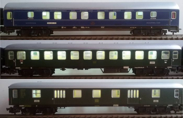 m rklin h0 3x passenger carriages with stabilised interior lights and led closing lights 8. Black Bedroom Furniture Sets. Home Design Ideas