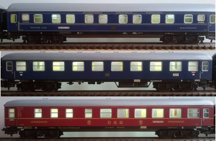 m rklin h0 3x passenger carriages with stabilized interior lighting and led rear lighting 9. Black Bedroom Furniture Sets. Home Design Ideas