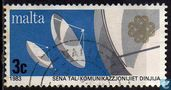 Postage Stamps - Malta - Int. year of Communication